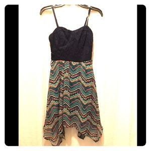 Beautiful Navy and Patterned Dress